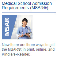 Medical School Admission Requirements (MSAR)