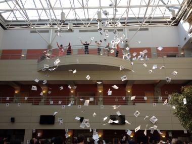 """Swimmers"" in the Atrium"