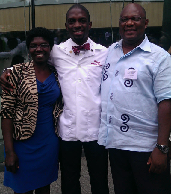 Elorm and his parents