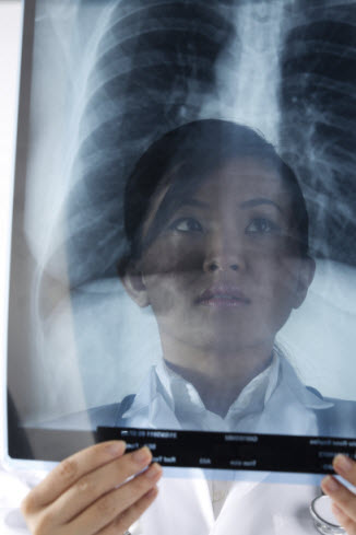 woman with xray sized